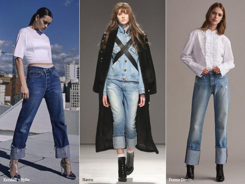 тренд 6. подвернутые - модные джинсы осень/зима 2017-2018