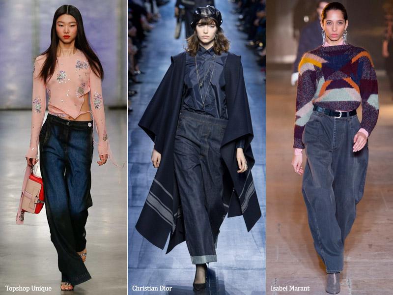 тренд 7. широкие мешковатые - модные джинсы осень/зима 2017-2018