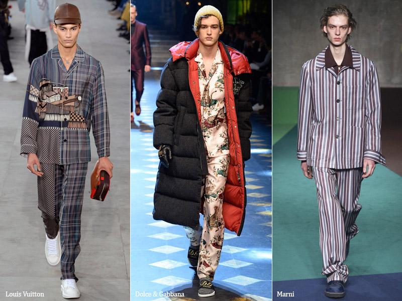 тренд-11 Пижамный стиль - мужская мода осень/зима 2017-2018 г.