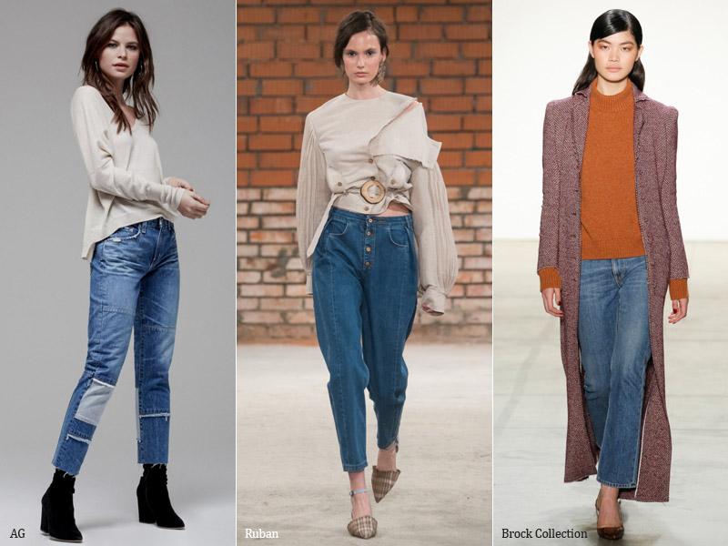 тренд 9. джинсы длинной 7-8 - модные джинсы осень/зима 2017-2018