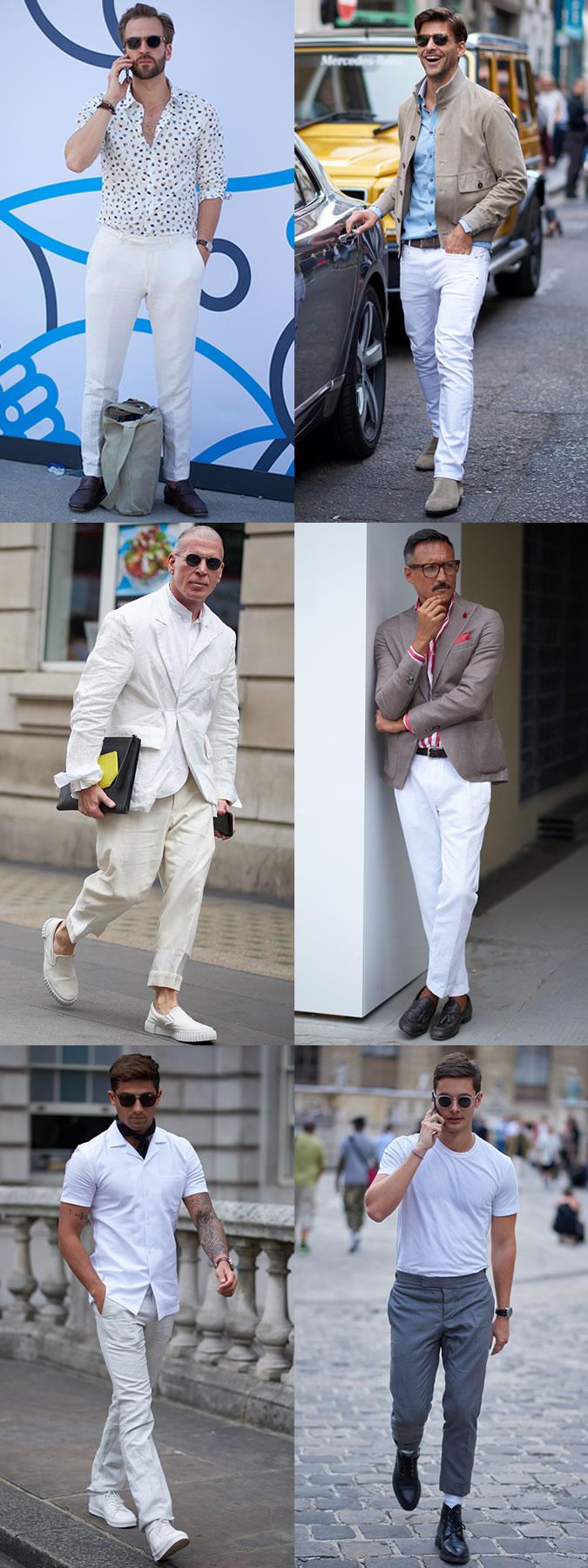 Парни в брюках или футболках белого цвета