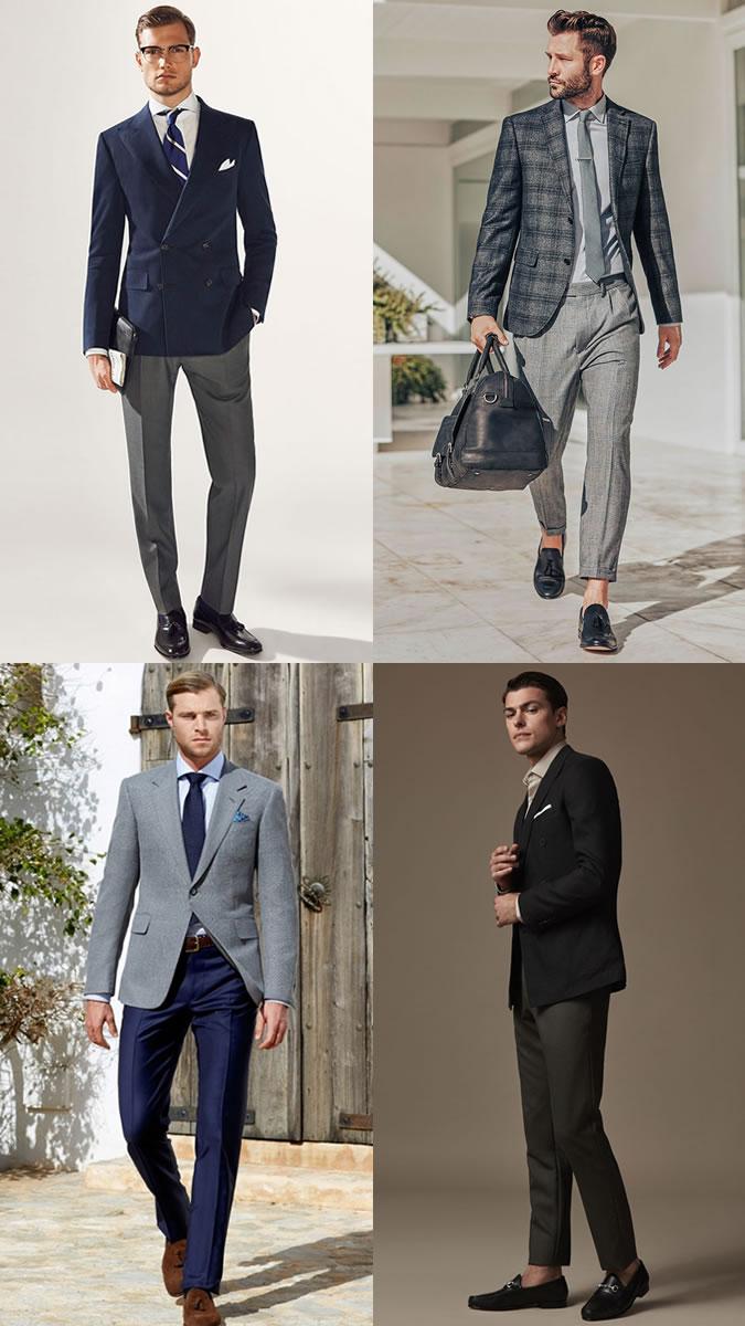 Пиджаки и брюки от разных костюмов