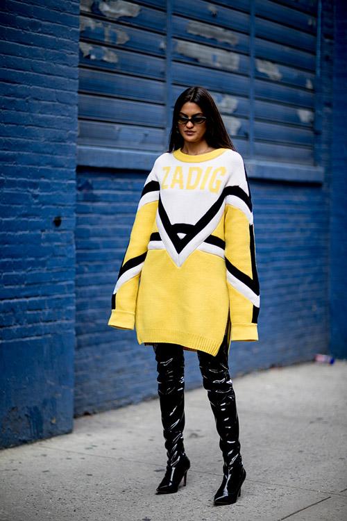 Уличная мода Нью-Йорка во время показов весна/лето 2018 - фото 105