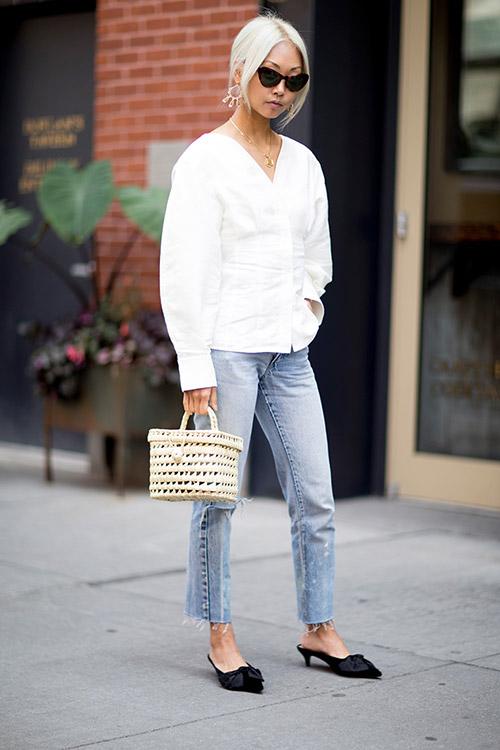 Уличная мода Нью-Йорка во время показов весна/лето 2018 - фото 10