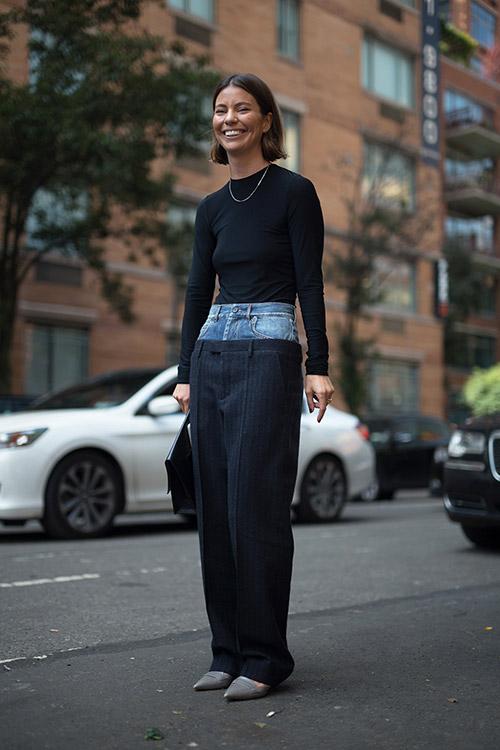 Уличная мода Нью-Йорка во время показов весна/лето 2018 - фото 22