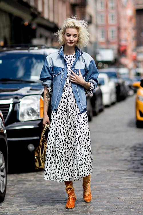 Уличная мода Нью-Йорка во время показов весна/лето 2018 - фото 42
