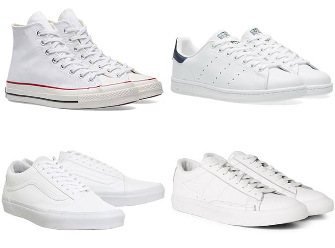 Белые кроссовки для тех кому за 20