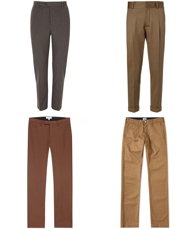 Коричневые брюки ключевые детали