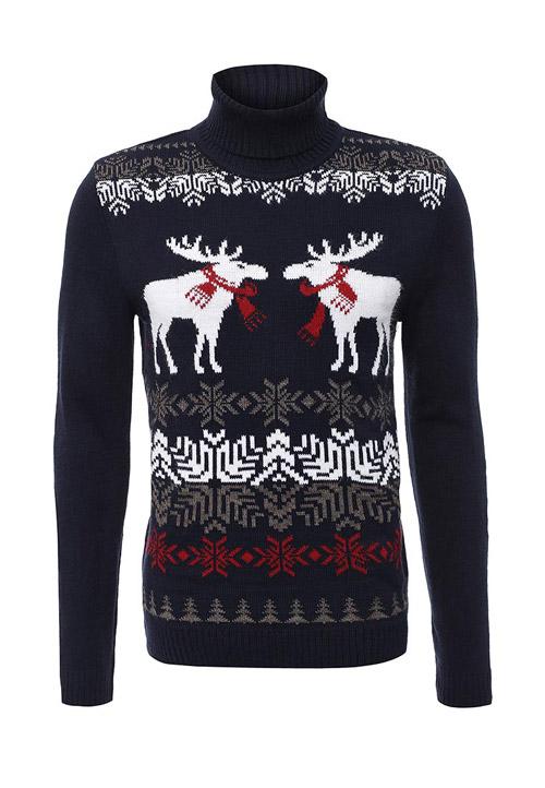 Темный свитер с оленями