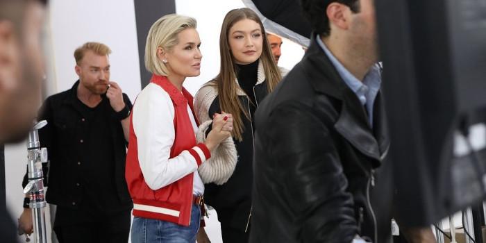 Иоланда и Джиджи Хадид на съемках реалити шоу - Создание модели