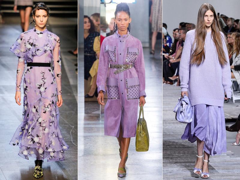 Тренд 2 - сиреневый цвет в одежде 1 - модные тенденции сезона весна/лето 2018