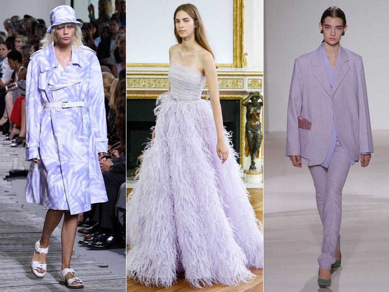 Тренд 2 - сиреневый цвет в одежде 2 - модные тенденции сезона весна/лето 2018