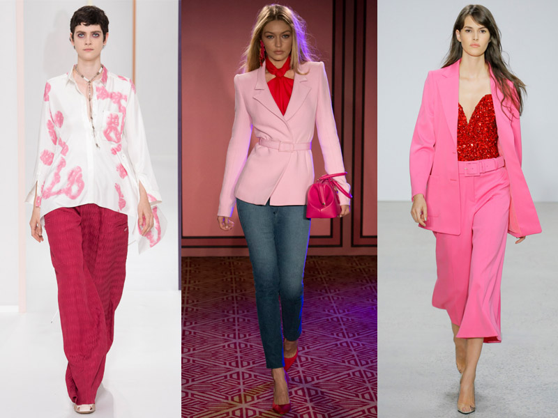 Тренд 5 - сочетание красного с розовым 1 - модные тенденции сезона весна/лето 2018
