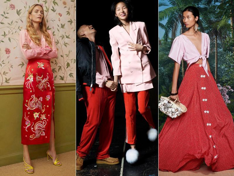Тренд 5 - сочетание красного с розовым 2 - модные тенденции сезона весна/лето 2018