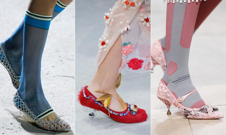 тренд 1 - кошачий каблук, модная обувь весна лето 2018