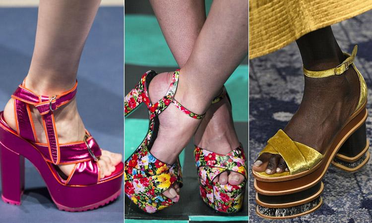 тренд 12 - босоножки на каблуке и платформе модная обувь весна лето 2018