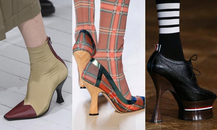 тренд 13 - каблук катушка модная обувь весна лето 2018