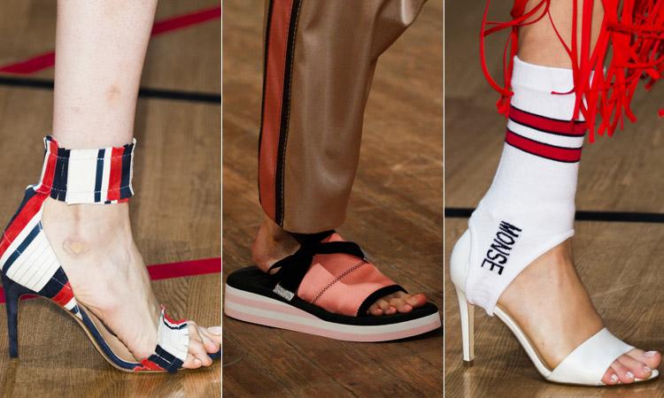 тренд 14 - босоножки и сандалии в спортивном стиле 2 модная обувь весна лето 2018