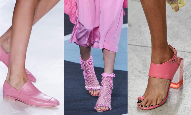 тренд 15 - розовая обувь модная обувь весна лето 2018