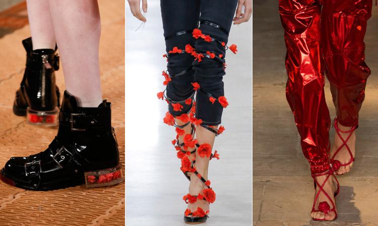 тренд 17 - обувь украшенная цветами модная обувь весна лето 2018