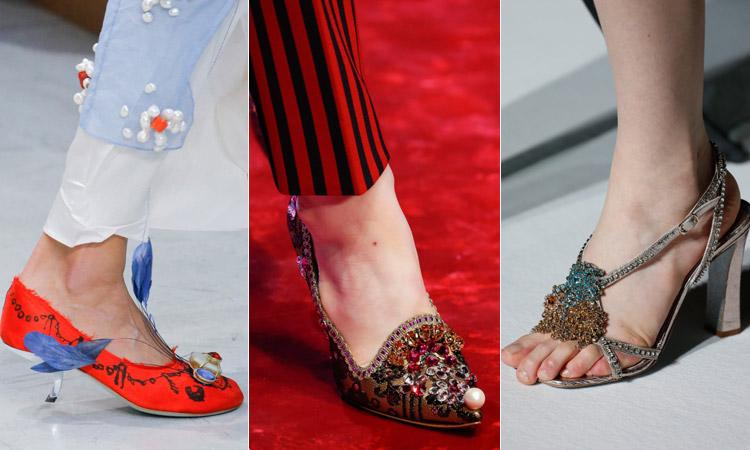 тренд 18 - обувь украшенная камнями модная обувь весна лето 2018