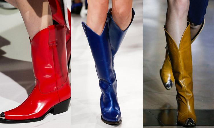 тренд 2 - в ковбойском стиле модная обувь весна лето 2018