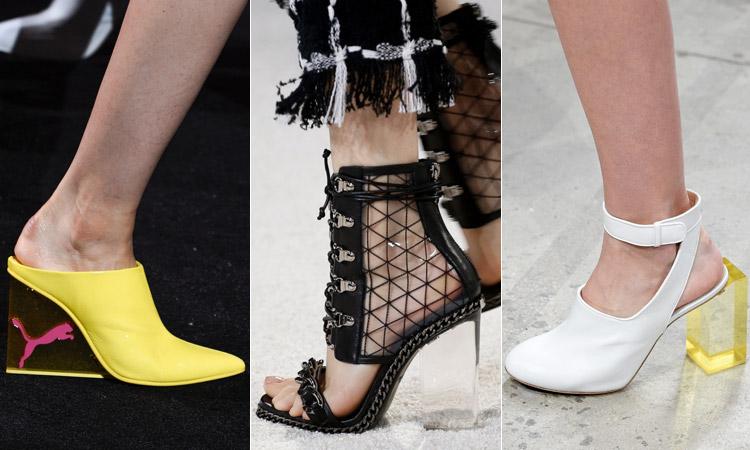тренд 6 - обувь с акриловым каблуком модная обувь весна лето 2018