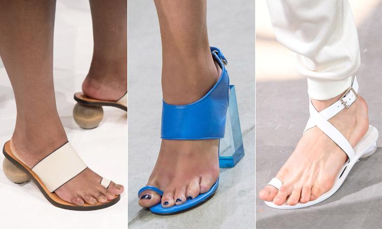 тренд 9 - ремешок для большого пальца модная обувь весна лето 2018
