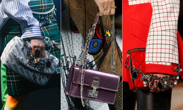 тренд 15 - Модные сумки с украшенной ручкой весна/лето 2019