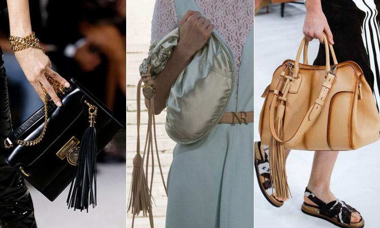 тренд 13 - Модные сумки с кисточками весна/лето 2018