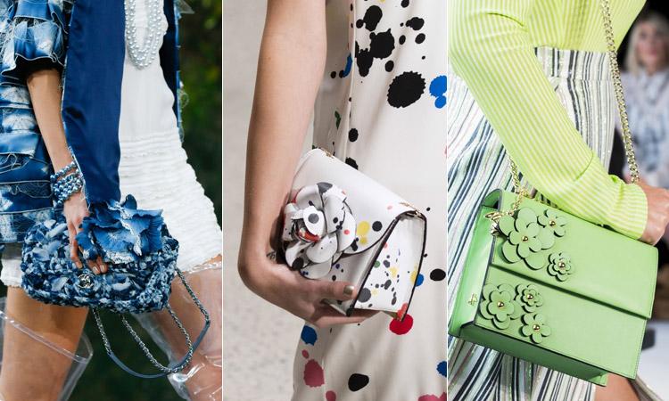 тренд 11 - Модные сумки с объемными цветами весна/лето 2018