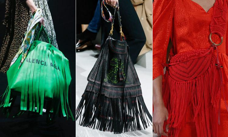 тренд 12 - Модные сумки с бахромой весна/лето 2018