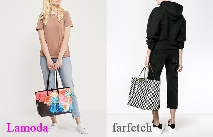 Девушки с большими сумками для покупок