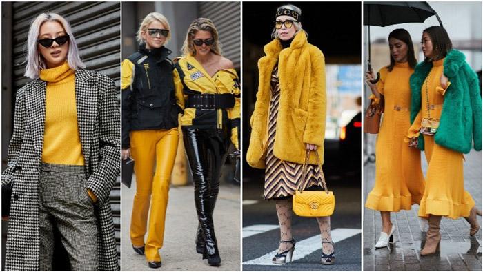 Девушки в желтых нарядах