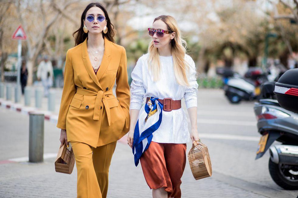Соломенные сумки и street style — не нужно ждать лето чтобы носить, на фото