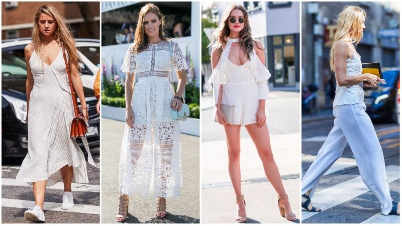 Девушки в белых нарядах для лета