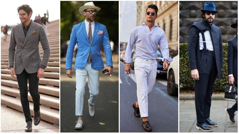 Мужчины в кожаных дерби, классический стиль