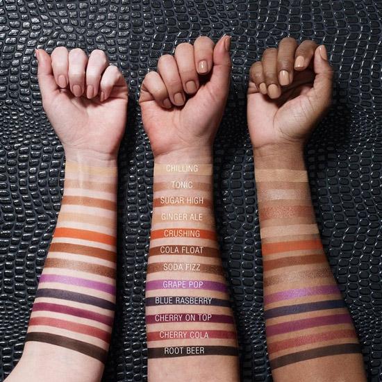 Тени Maybelline Soda Pop Eyeshadow на разных оттенках кожи