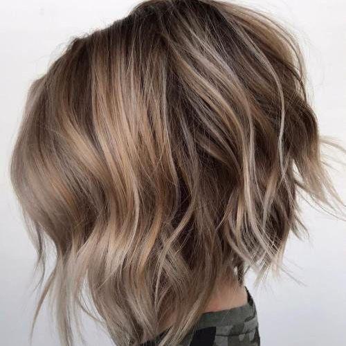 Перевернутый боб для густых волос