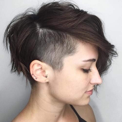 Пикси андеркат для густых волос