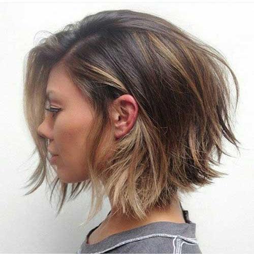 Рваный боб для густых волос