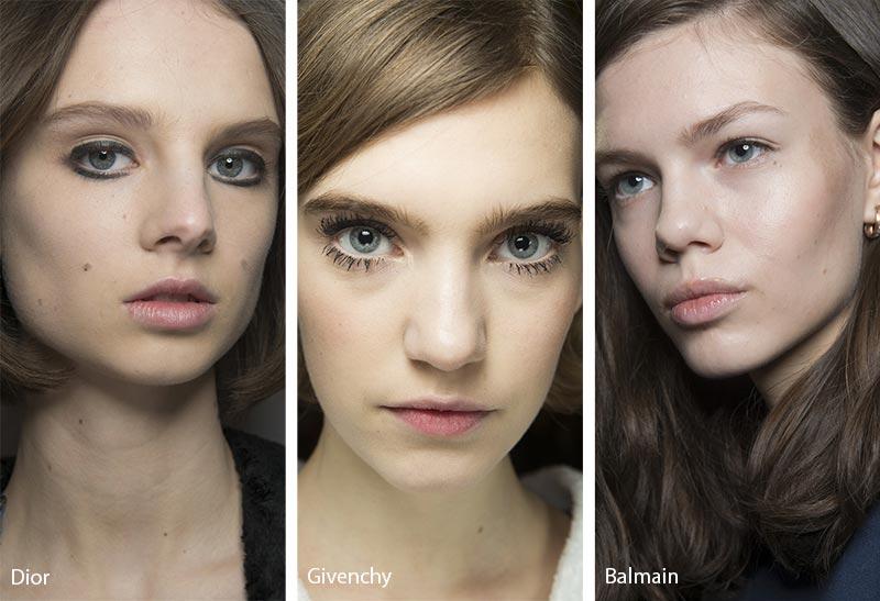 Модели с бледной основой для макияжа, модный макияж