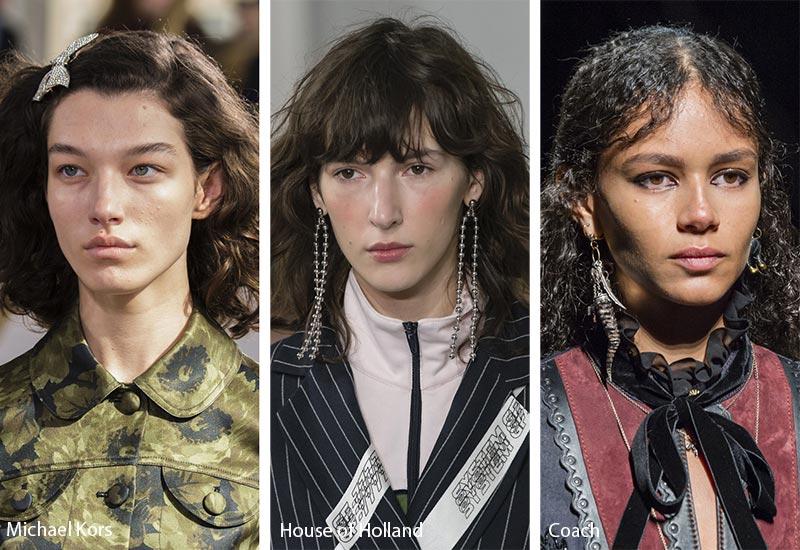 Модели с естественно укладкой на волосах, модные прически осень зима
