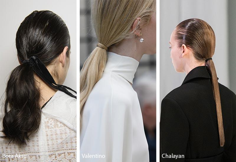 Модели с конским хвостом на волосах