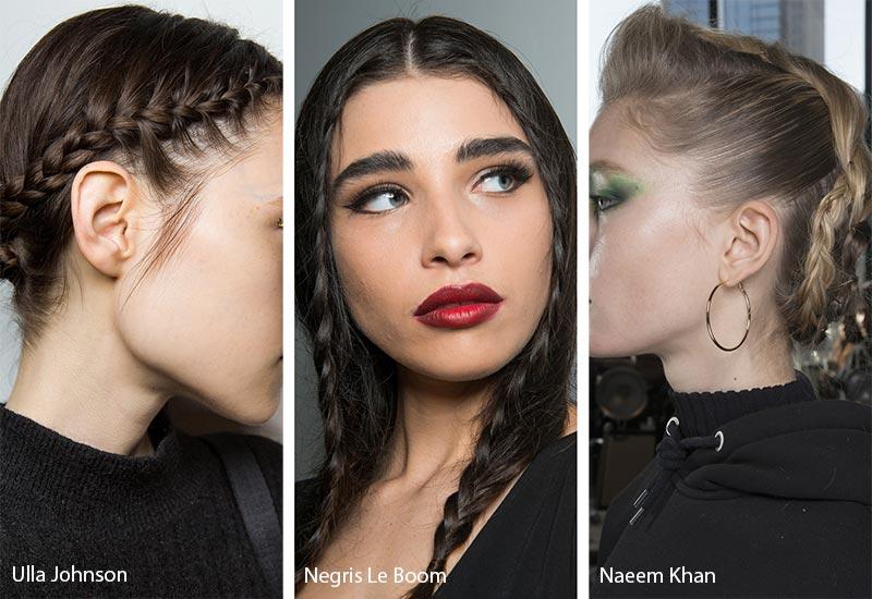 Модели с косичками на волосах, модные прически