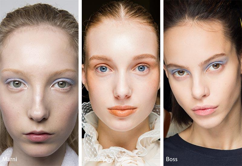 Модели с макияжем без туши, модный макияж глаз
