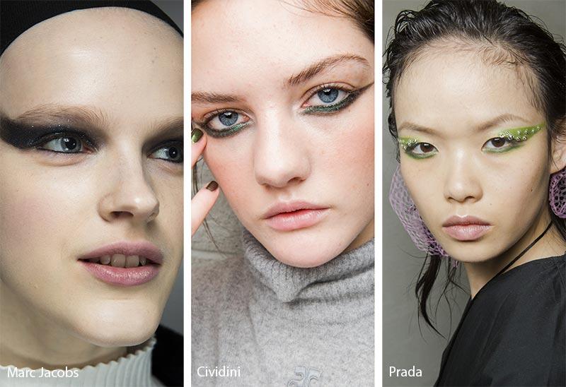 Модели с макияжем глаз кошачьи глазки