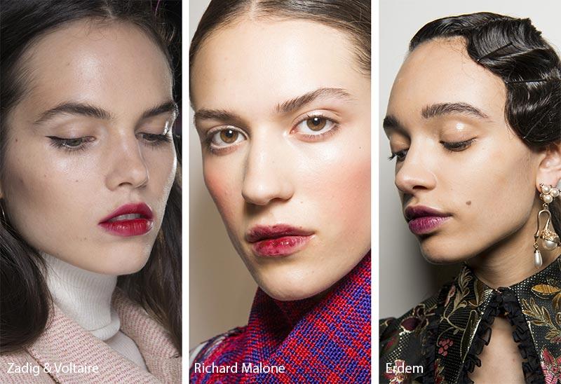 Модели с модным макияжем