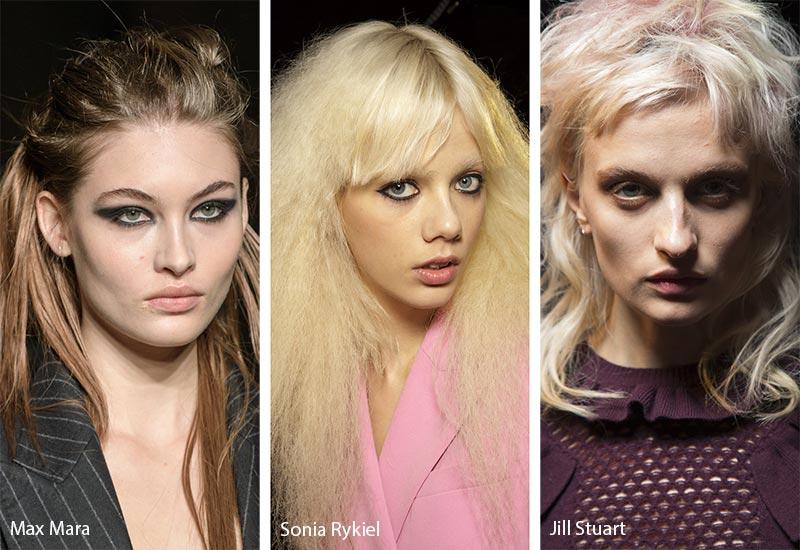 Модели с модными растрепанными волосами