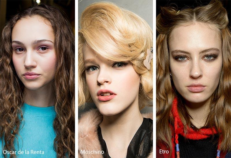 Модели с объемными прическами на волосах